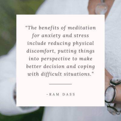 Benefit of Meditation for Anxiety
