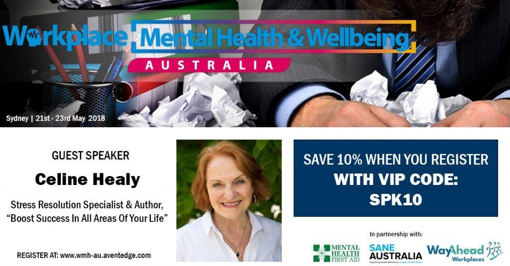 Workplace Mental Health Wellbeing Celine Healy Banner